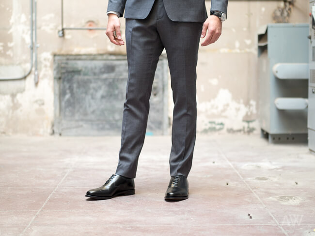 How High Should Suit Pants Be Worn From Shoes