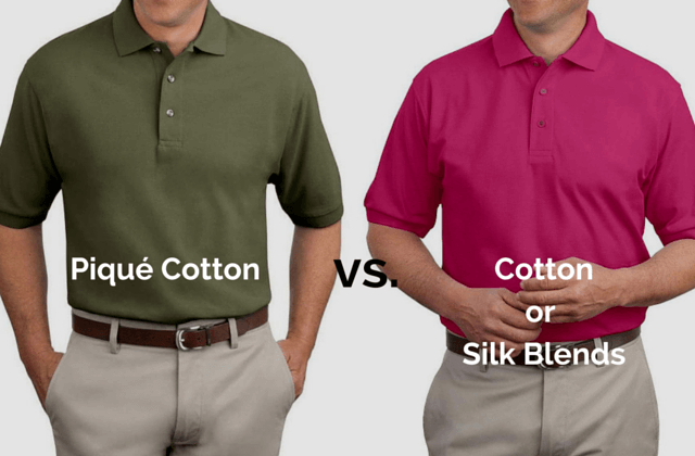 Pique Cotton Vs Cotton or Silk Blended Polos Ashley Weston