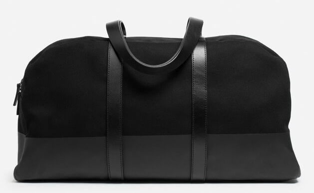 Everlane The Dipped Weekender Bag Holdall Bag Ashley Weston Canvas Black
