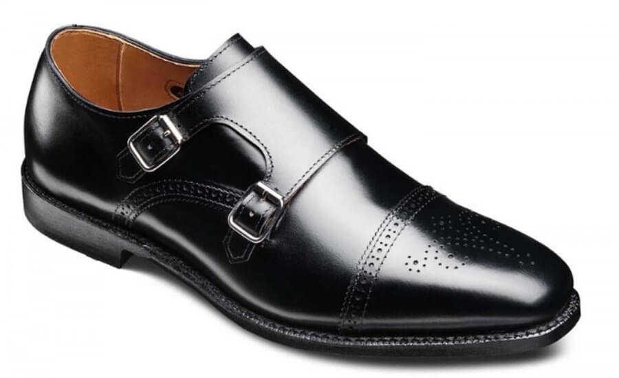 Allen Edmonds St Johns Black Double Monk Strap