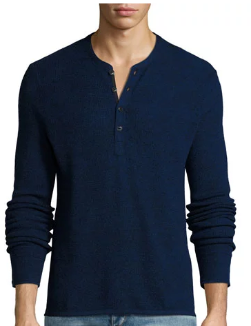 Rag & Bone Long Sleeve Henley Ashley Weston