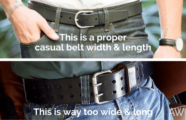 Casual Belts Too Wide and Long - Ashley Weston