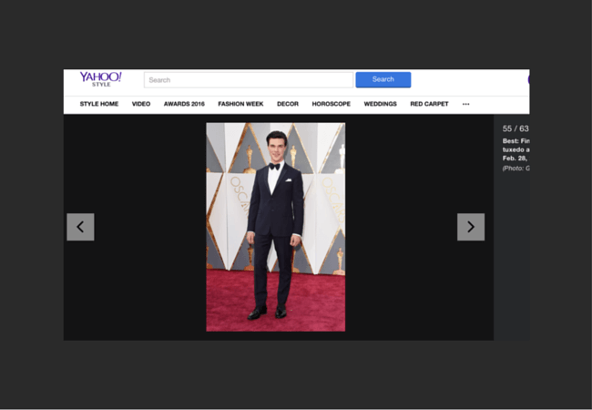 Yahoo Style Best Dressed List Finn Wittrock Ashley Weston