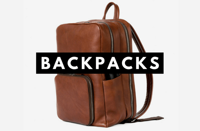 Men's Leather Backpack - Men's Essential Accessories