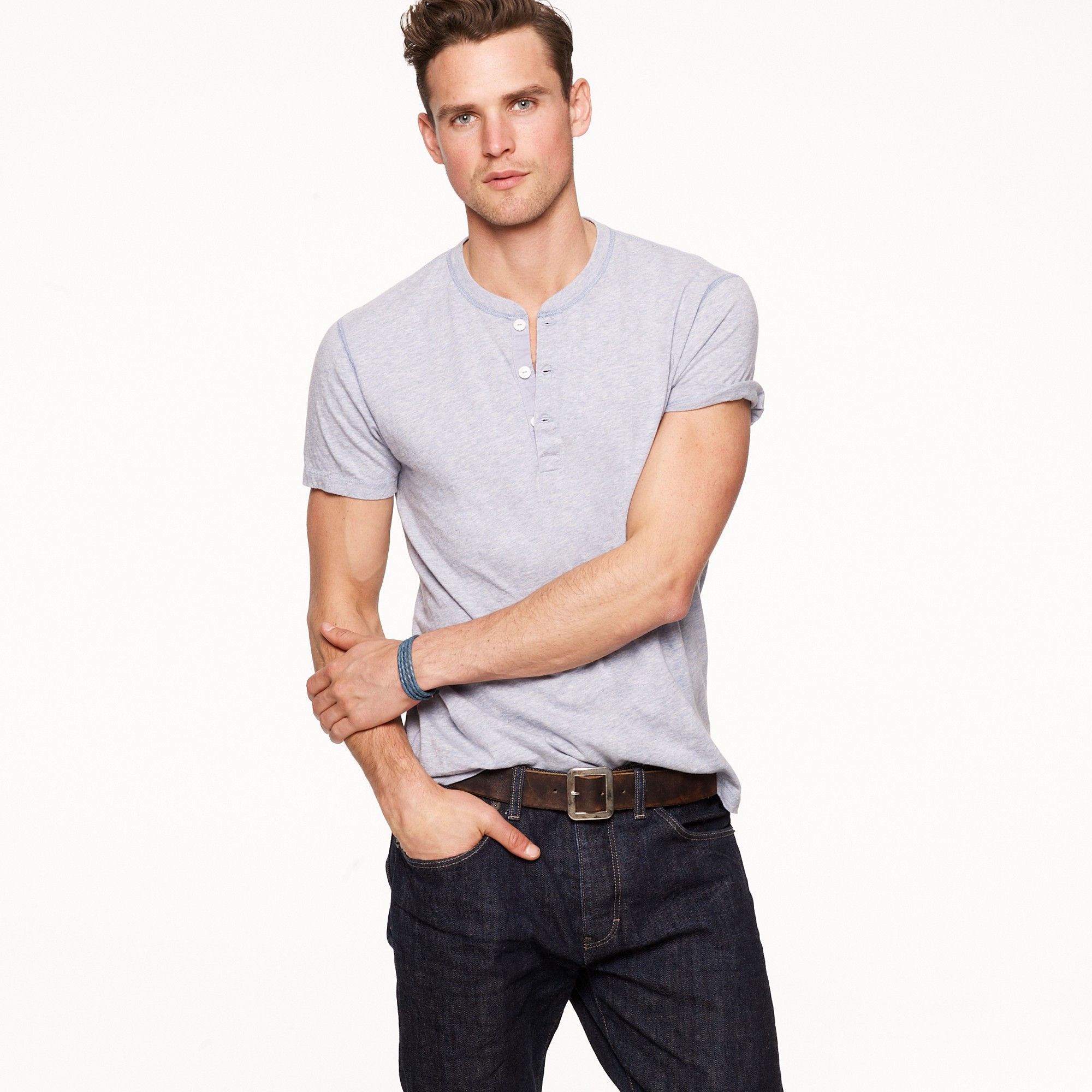How To Wear Henley - Short Sleeve